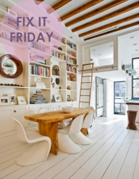 Fix it Friday painting wood floors