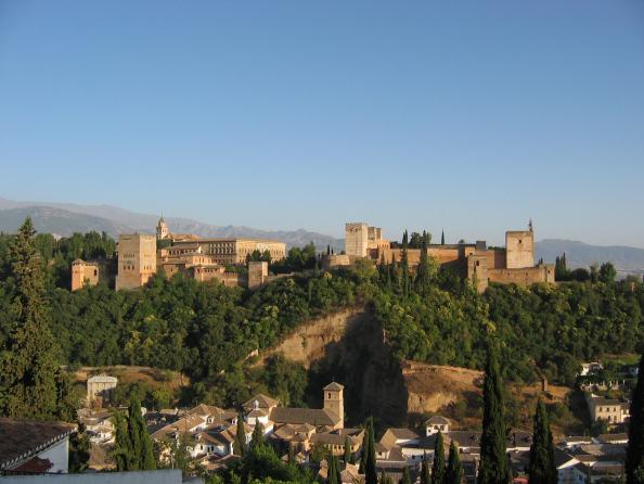 The Alhambra in Grenada, Spain, one of the wonders of Europe