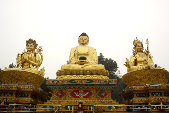 Golden budhas in Nepal