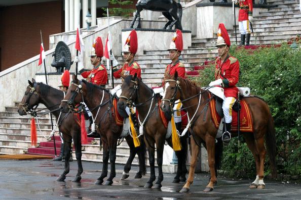 Guards at the Royal Palace, Kathmandu, Nepal