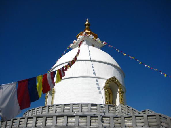 Pagoda in Pokhara, Nepal