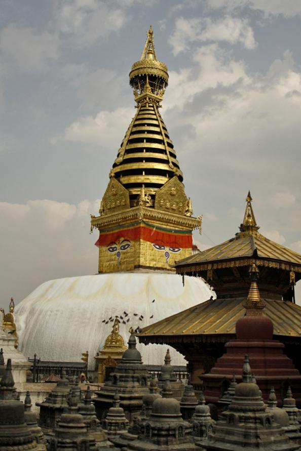 Another view of Swayambhunath Stupa, Kathmandu, Nepal