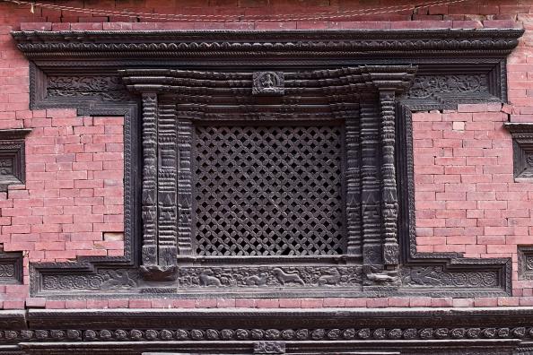 Old window in Kathmandu, Nepal