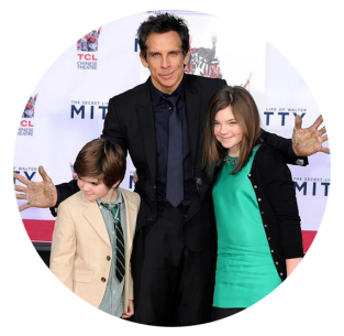 ben stiller with kids