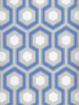 Cole & Son Wallpaper HICKS HEXAGON BLUE/GR 66_8054_CS