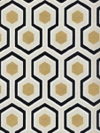 Cole & Son Wallpaper HICKS HEXAGON BLACK/G 66_8056_CS